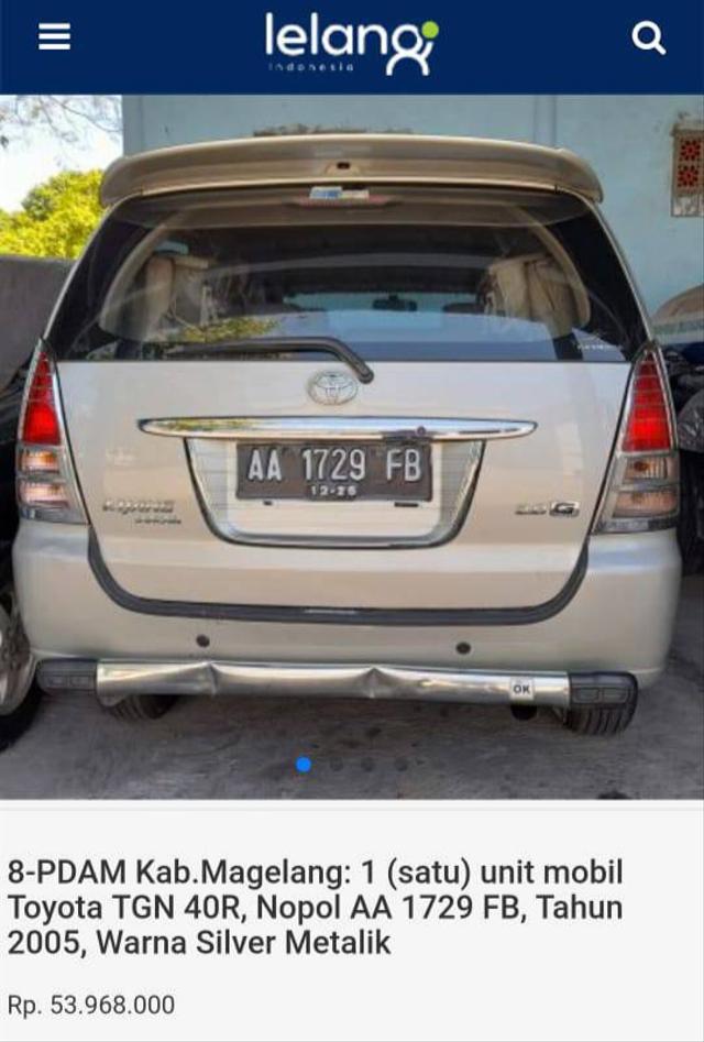 Lelang Toyota Innova Mulai Rp 43 Jutaan, Tertarik? (497399)
