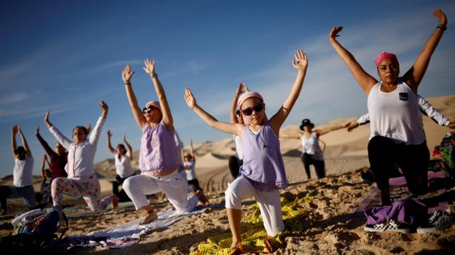 Foto: Meraih Ketenangan saat Lonjakan COVID-19 dengan Yoga di Meksiko (312874)