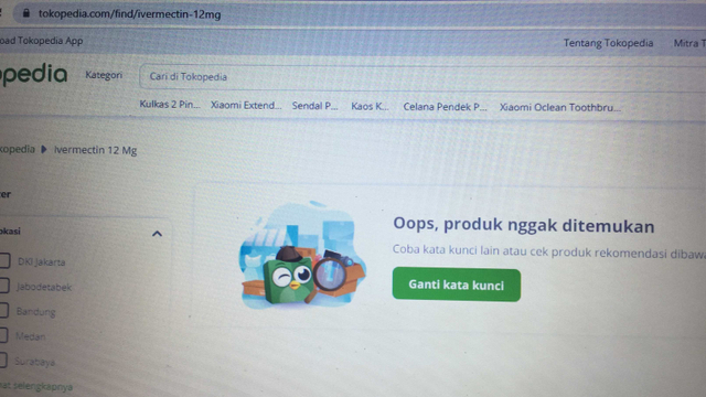 Harganya Sempat Melonjak, Ivermectin Kini Menghilang di E-commerce (109674)