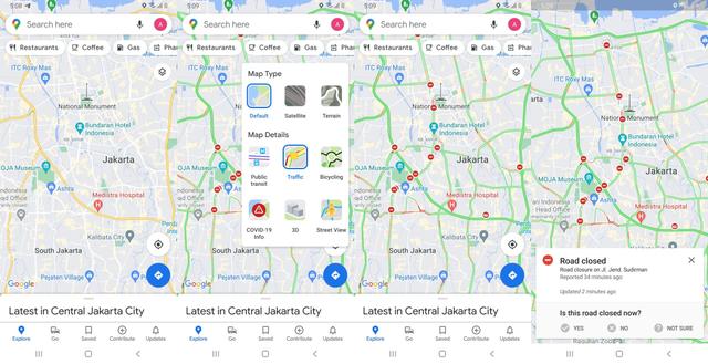 Cara Pantau Penyekatan Jalan PPKM Darurat di Google Maps (1)