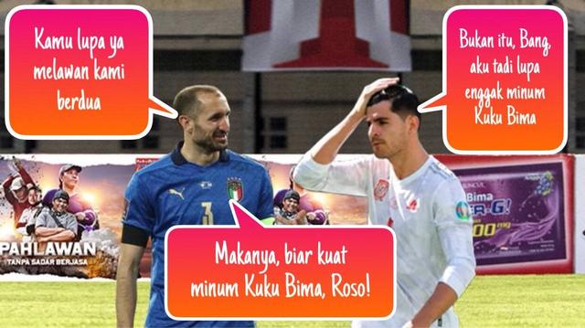 Meme Morata lawan Chiellini dan Bonucci di Euro 2020 (371246)