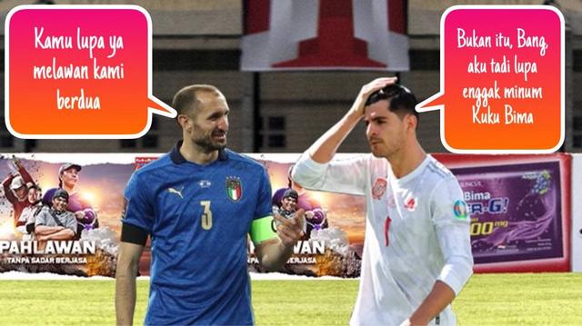 Meme Morata lawan Chiellini dan Bonucci di Euro 2020 (371243)