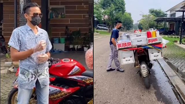 Viral Tukang Bubur Naik Motor Sport Sambil Jualan Keliling (611198)