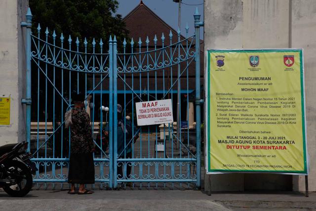 Foto: Salat Jumat Ditiadakan saat PPKM Darurat (64333)
