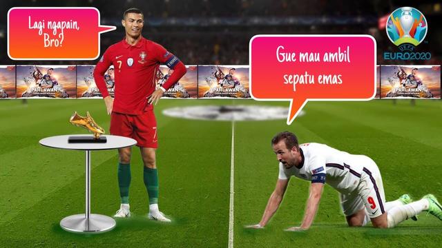 Perebutan Top Scorer Euro 2020: Meme Upaya Kane Menggeser Ronaldo (8357)