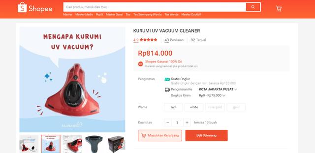 Tidur Bebas Tungau Pakai UV Bed Vacuum Cleaner, Harga Enggak Sampai Sejutaan (158341)