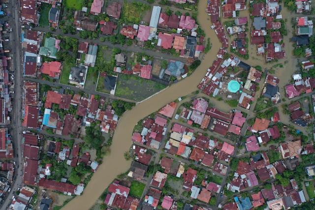 Foto Udara: Banjir Rendam Permukiman di Kecamatan Darul Imarah, Aceh Besar (78266)