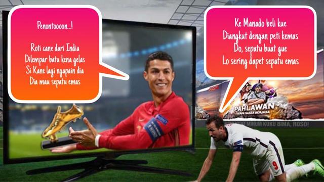 Top Scorer Euro 2020: Ronaldo dan Kane berbalas Pantun tentang Sepatu Emas (1301)