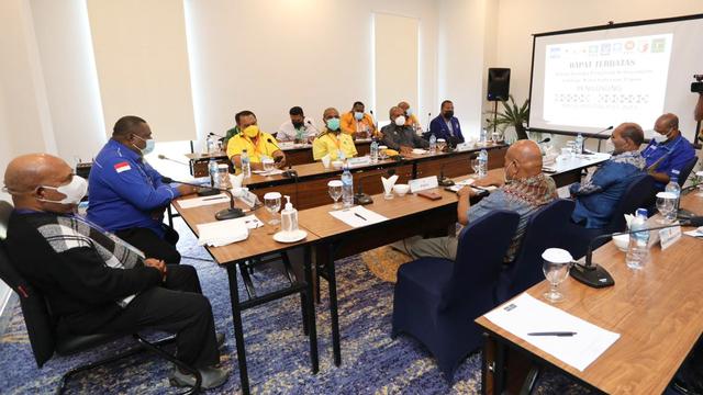 Gubernur Papua Bertemu Koalisi Parpol Bahas Kekosongan Kursi Wagub  (231061)