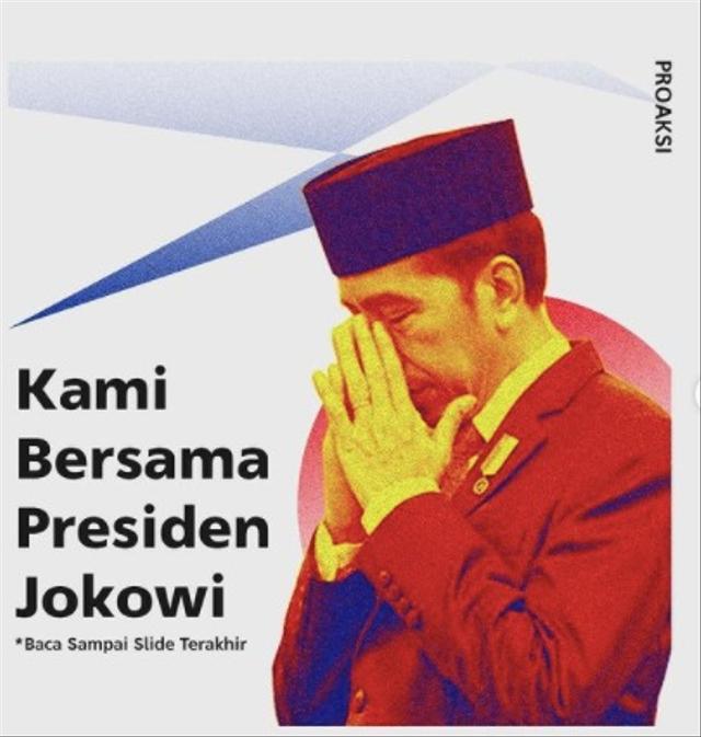 Heboh Cuitan 'Kami Bersama Presiden Jokowi Tapi Boong' di Medsos BEM FISIP Unpad (211551)