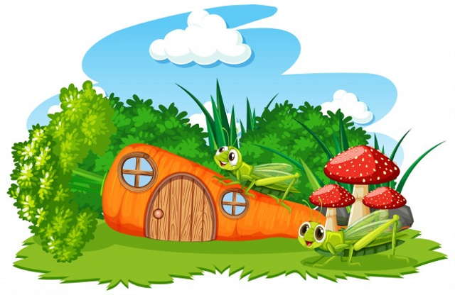"""Cerita Fabel Bahasa Inggris """"The Ant and The Grasshopper"""" (87136)"""