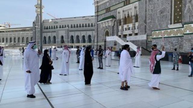 Jemaah Haji 2021 Mulai Berdatangan ke Masjidil Haram, Begini Suasananya (274941)