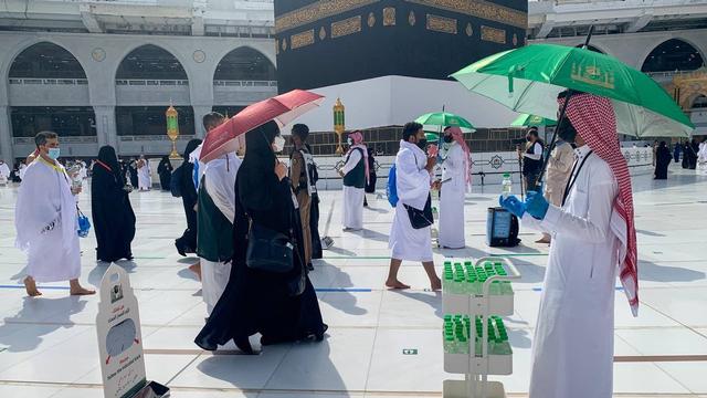 Jemaah Haji 2021 Mulai Berdatangan ke Masjidil Haram, Begini Suasananya (274942)