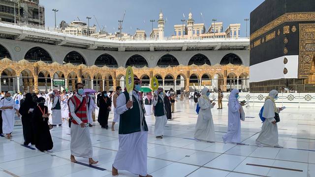 Jemaah Haji 2021 Mulai Berdatangan ke Masjidil Haram, Begini Suasananya (274943)