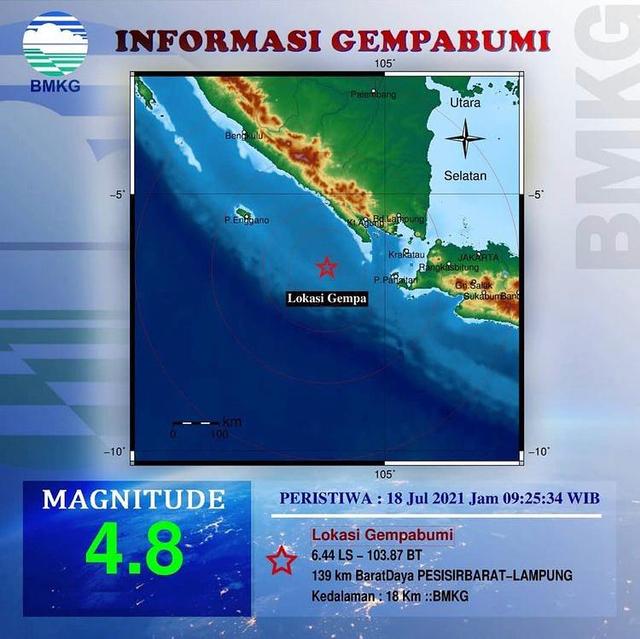Gempa 4.8 Magnitudo Guncang Pesisir Barat, BMKG: Tetap Tenang dan Waspada (49771)