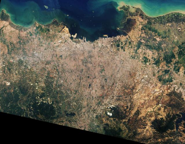 Citra Satelit Pantau Urban Jakarta dan sekitarnya; Potret Tantangan PPKM Darurat (67100)