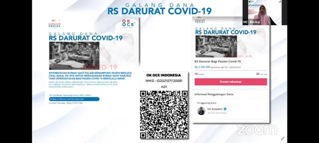 Galang Dana RS Darurat Pasien Covid-19 Dari OK OCE Untuk Indonesia (68590)