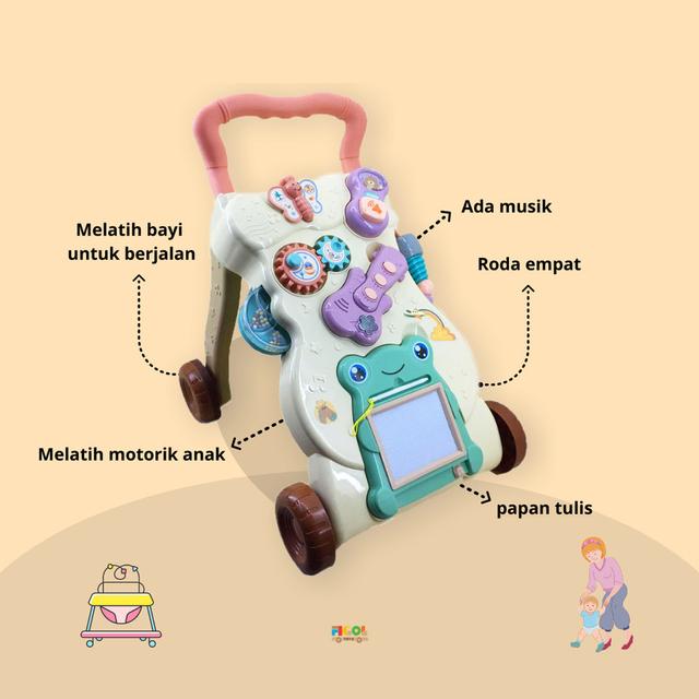 Mainan Anak 1 Tahun, Melatih Belajar Berjalan dan Bicara (103788)