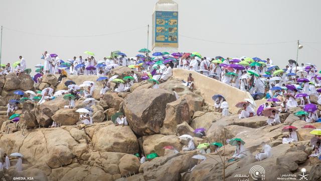 Suasana Emosional Jemaah Haji 2021 Saat Wukuf di Arafah (506168)