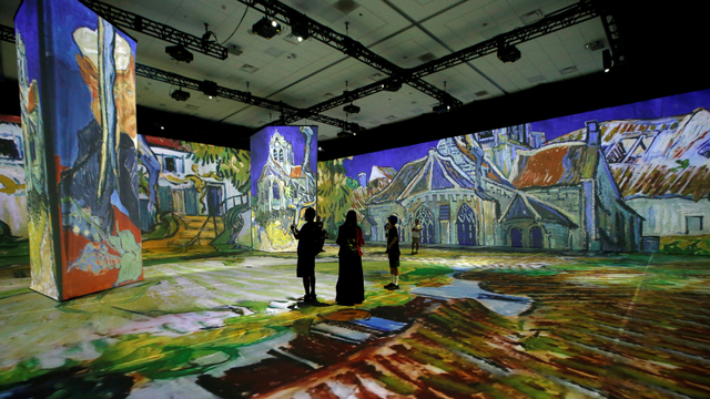 Foto: Pameran Lukisan Vincent van Gogh Hibur Warga California di Masa Pandemi (75871)