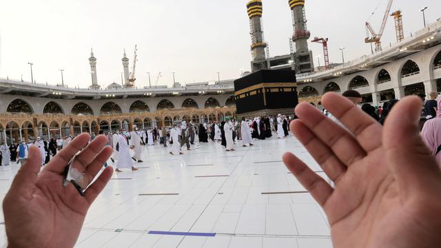 Foto: Jemaah Haji 2021 Melakukan Tawaf Ifadah dengan Menjaga Jarak (405937)