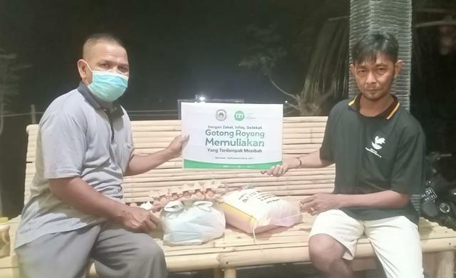 Kebakaran Nunukan, KBM FKIP Universitas Borneo dan IZI Kaltara Salurkan Sembako (345731)