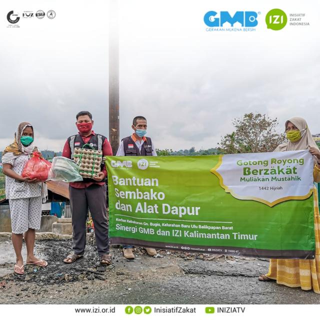 Kampung Baru Kembali Terbakar, Komunitas GMB dan IZI Kaltim Salurkan Bantuan (206449)