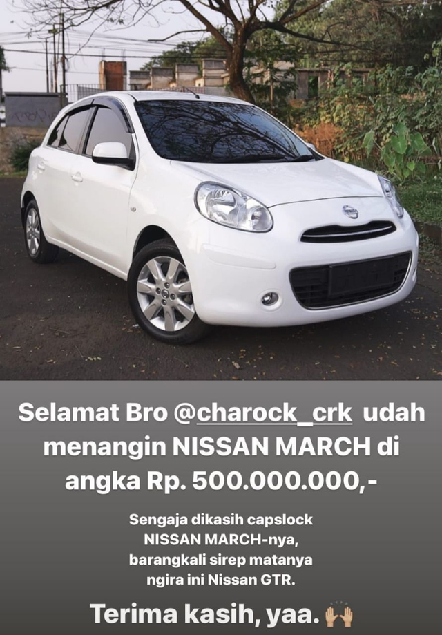 Intip Nissan March Arief Muhammad yang Laku Setengah Miliar (32218)