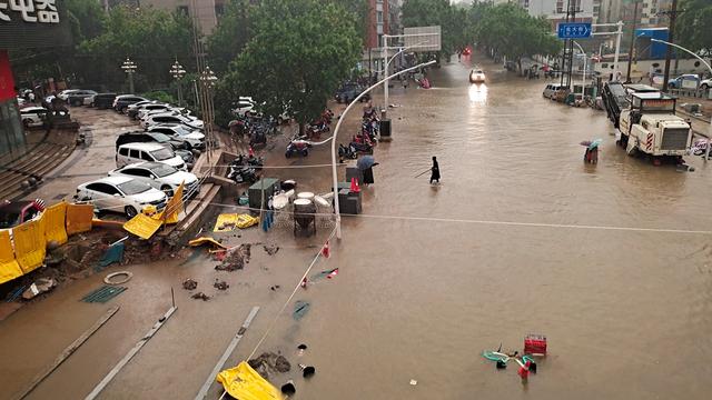 Foto: Banjir Besar di Provinsi Henan di China (58600)