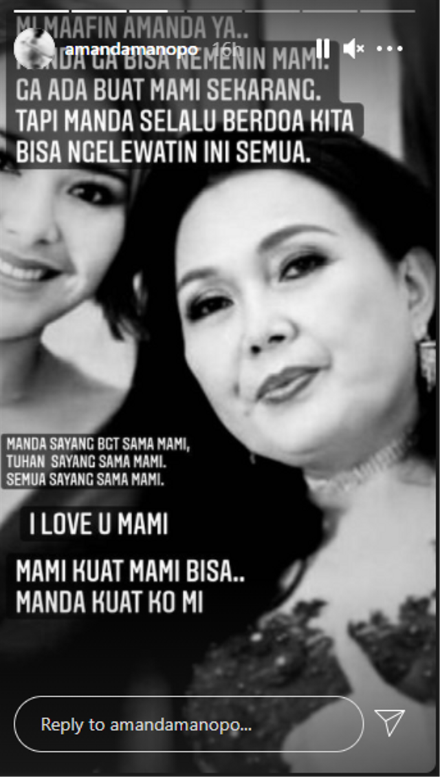 Ibunda Jatuh Sakit, Amanda Manopo: Mami Kuat, Mami Bisa (46544)