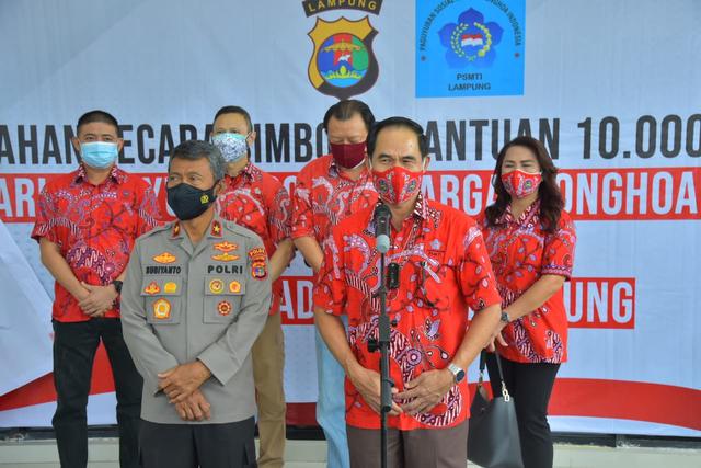 Polda Lampung Terima Paket Sembako untuk Masyarakat yang Terdampak PPKM Level 4 (39160)
