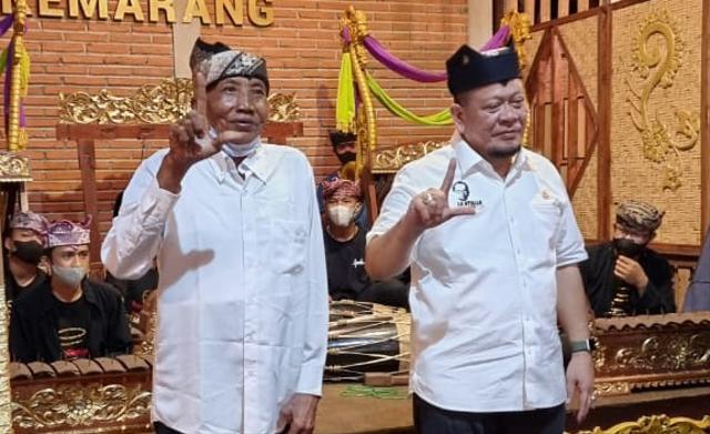 Ketua DPD RI, LaNyalla Mahmud Mattalitti tatap muka dengan Seniman Banyuwangi (310746)