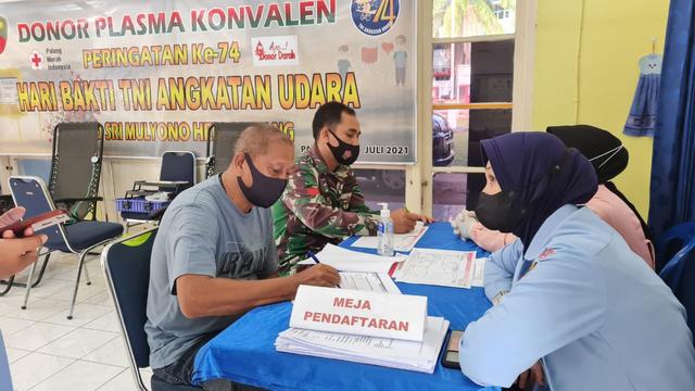 Anggota Lanud SMH Palembang Donor Darah Plasma (855599)