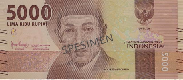 Idham Chalid, Tokoh NU dalam 3 Zaman di Uang Rp 5.000 (53436)