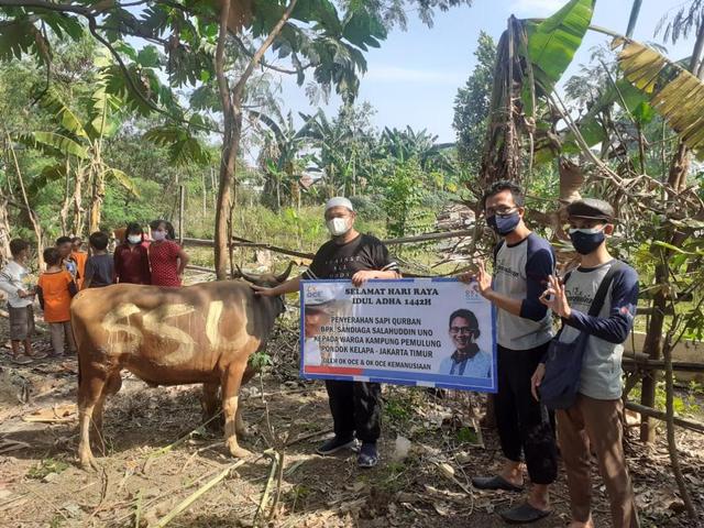 OK OCE Kemanusiaan Salurkan Bantuan Kurban Sandiaga Uno (141290)