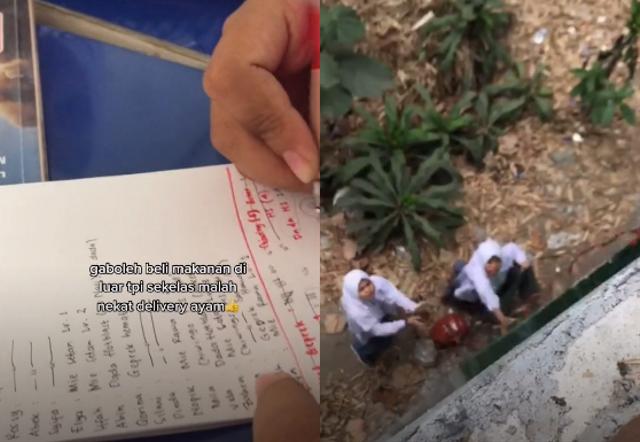 Aksi Kocak Siswa SMA Diam-diam Beli Ayam di Luar Sekolah, Netizen Bernostalgia (394704)
