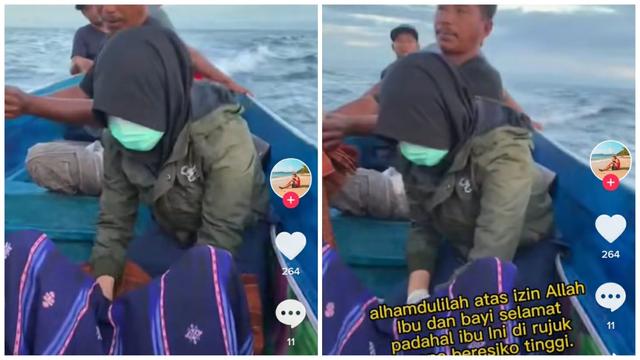 Viral Perjuangan Bidan Bantu Ibu Melahirkan di Atas Perahu (146539)