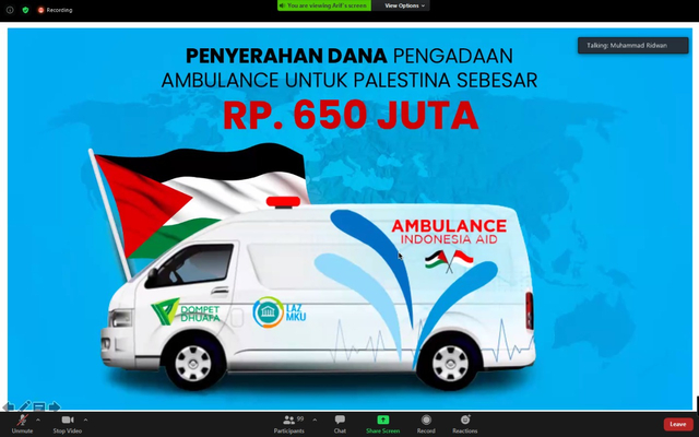 Bersama LAZ MKU, BMT dan Dompet Dhuafa, Hadirkan Ambulans Bagi Rakyat Palestina (795257)