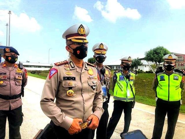 Penyekatan di Exit Tol Menuju Bandar Lampung Kembali Dibuka  (1039104)