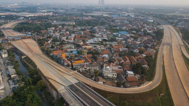 Foto: Jalan Tol Cibitung-Cilincing Seksi 1 Siap Diuji Coba Gratis (580229)