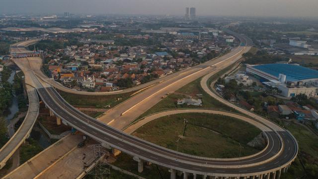 Foto: Jalan Tol Cibitung-Cilincing Seksi 1 Siap Diuji Coba Gratis (580228)
