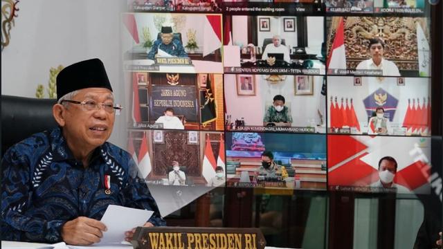 Ma'ruf Dorong Bali Manfaatkan Karantina Terpusat untuk Kurangi Jumlah Isoman (166661)