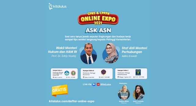 KitaLulus Gelar CPNS & CPPPK Online Expo 2021 Bersama Kementerian (812089)
