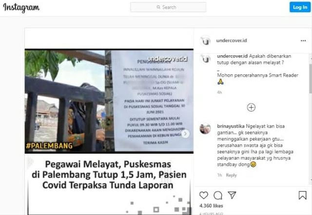 Puskesmas di Palembang Tutup Layanan 1,5 Jam karena Petugas Sedang Melayat (317220)