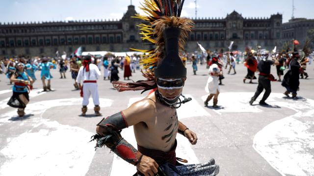 Foto: Perayaan 696 Tahun Peradaban Suku Aztec di Meksiko (276995)