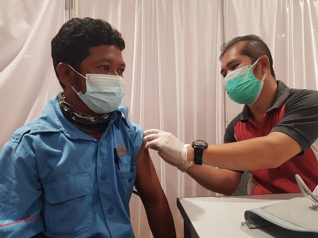 KKP Pangkalpinang Gelar Vaksinasi Tahap Dua di Mal Transmart (26485)