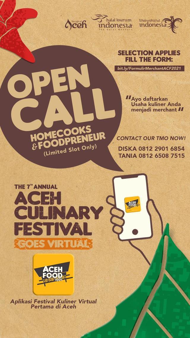 Festival Kuliner Virtual Akan Hadir Lewat Aceh Food Apps untuk Pertama Kali (105480)