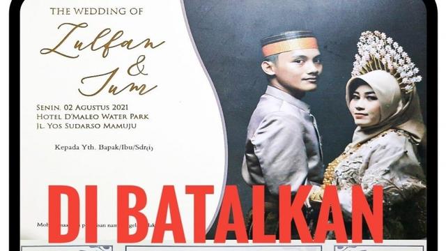 PPKM Level 3, Resepsi Pernikahan Putra Kadispora Sulbar di Hotel Dibatalkan (121455)