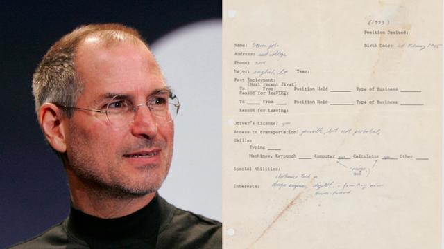 Surat Lamaran Kerja Pertama Steve Jobs Laku Rp 4 Miliar dalam Pelelangan (15135)