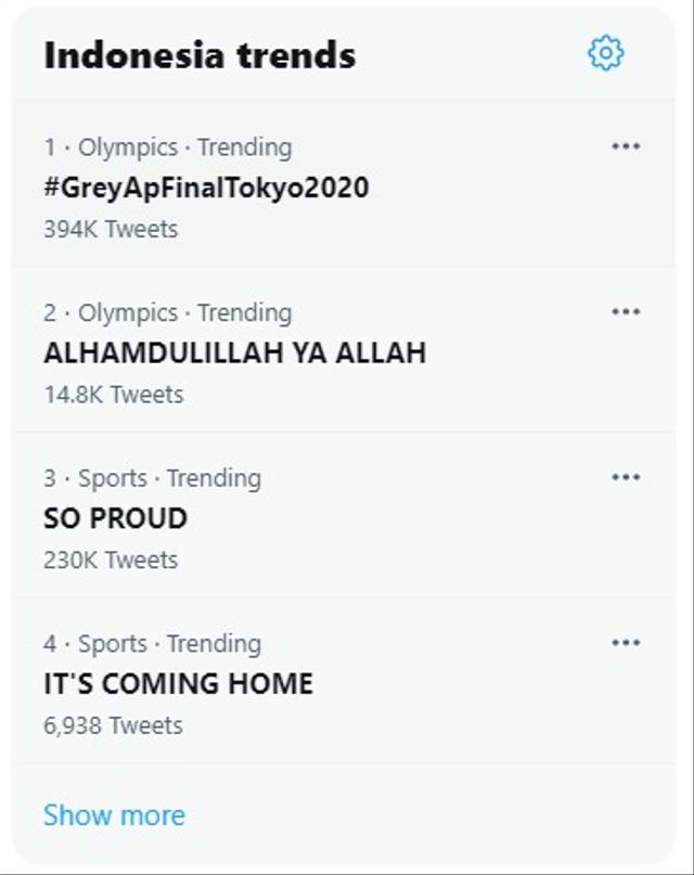 Greysia/Apriani Sabet Emas Olimpiade, Netizen: Alhamdulillah Ya Allah (8482)